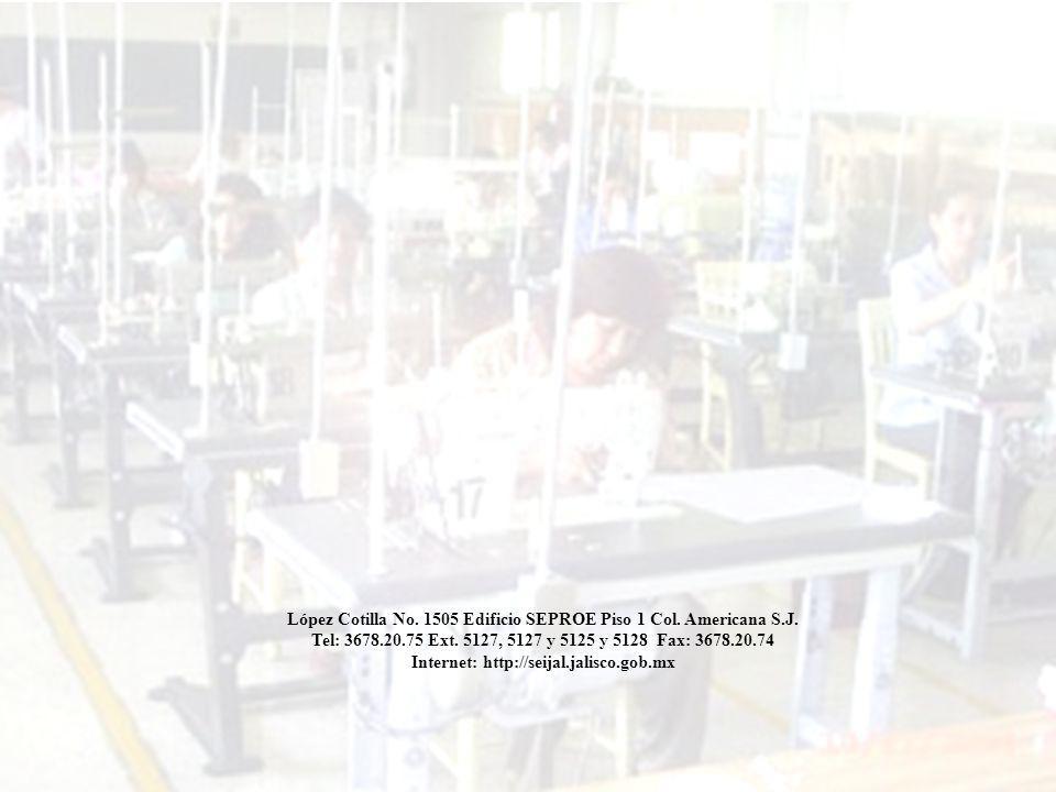 Coyuntura 1er Sem 2007 80 SISTEMA ESTATAL DE INFORMACIÓN JALISCO López Cotilla No. 1505 Edificio SEPROE Piso 1 Col. Americana S.J. Tel: 3678.20.75 Ext