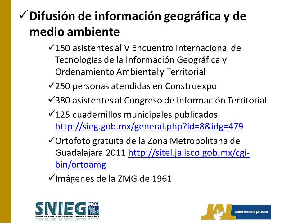 Difusión de información geográfica y de medio ambiente 150 asistentes al V Encuentro Internacional de Tecnologías de la Información Geográfica y Orden