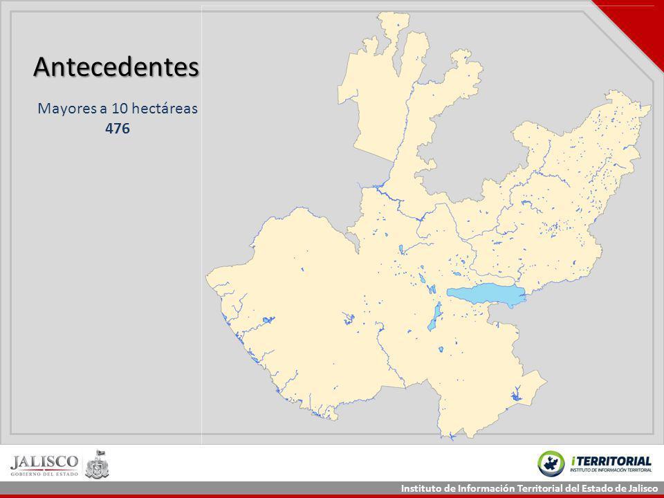 Instituto de Información Territorial del Estado de Jalisco Antecedentes Mayores a 10 hectáreas 476