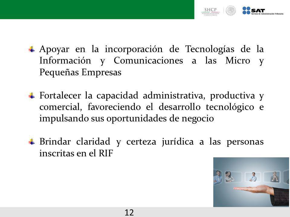 Apoyar en la incorporación de Tecnologías de la Información y Comunicaciones a las Micro y Pequeñas Empresas Fortalecer la capacidad administrativa, p