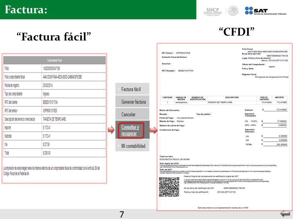 Factura: Factura fácil CFDI 7