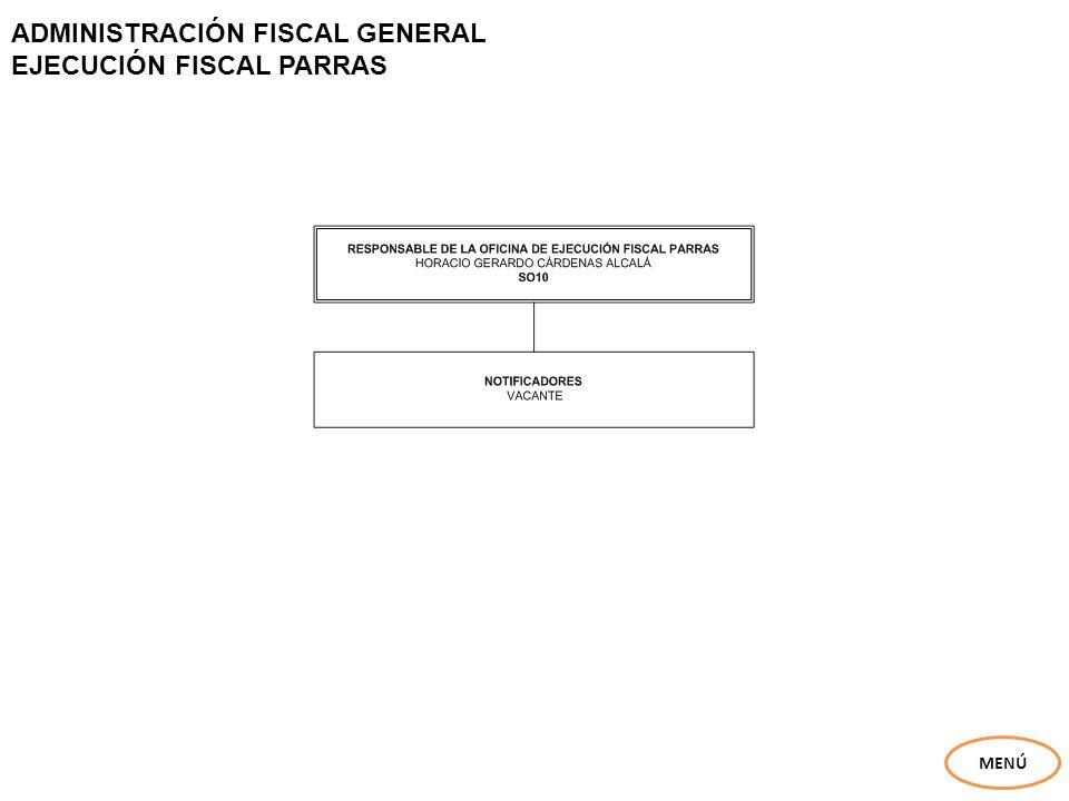ADMINISTRACIÓN FISCAL GENERAL EJECUCIÓN FISCAL PARRAS MENÚ