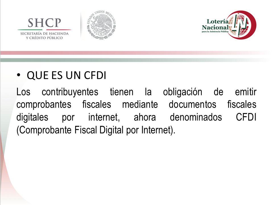 QUE ES UN CFDI Los contribuyentes tienen la obligación de emitir comprobantes fiscales mediante documentos fiscales digitales por internet, ahora deno