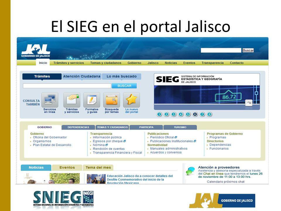 El SIEG en el portal Jalisco