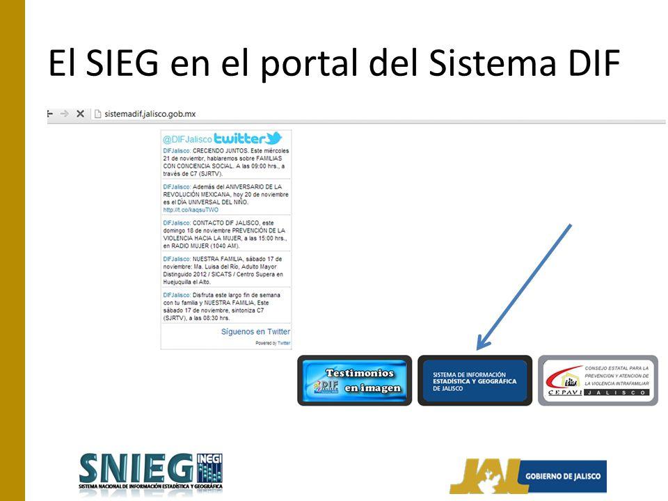 El SIEG en el portal del Sistema DIF
