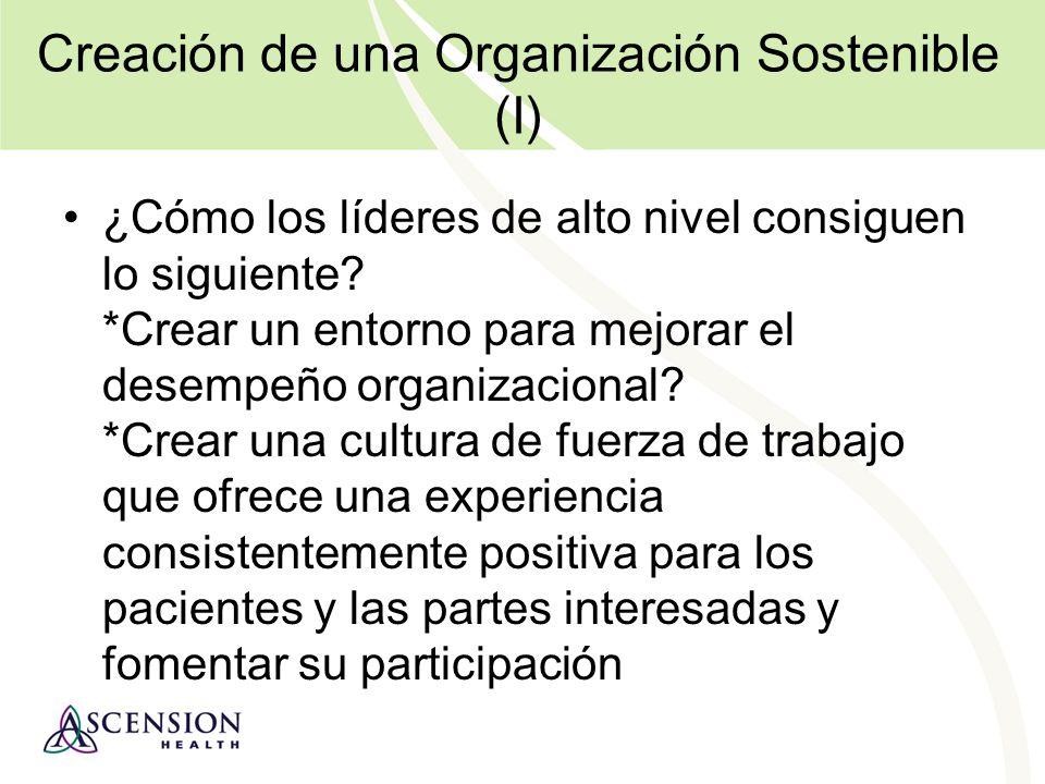 Creación de una Organización Sostenible (II) ¿Cómo los líderes de alto nivel consiguen lo siguiente.