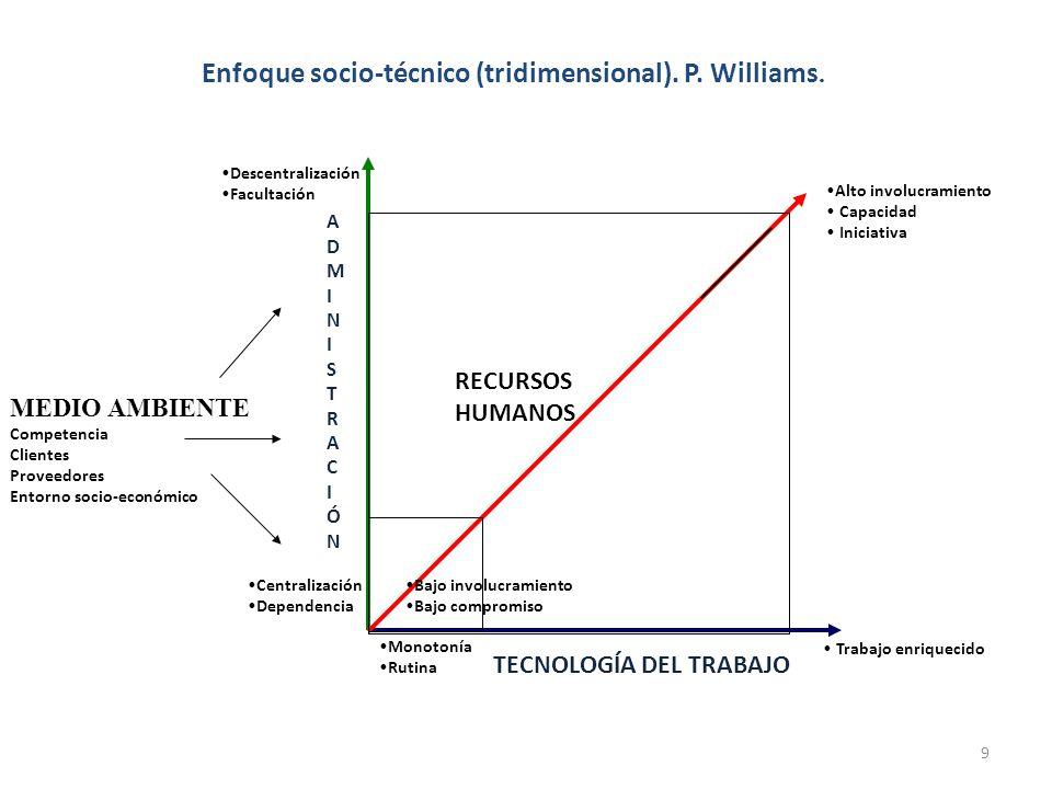 9 Enfoque socio-técnico (tridimensional).P. Williams.