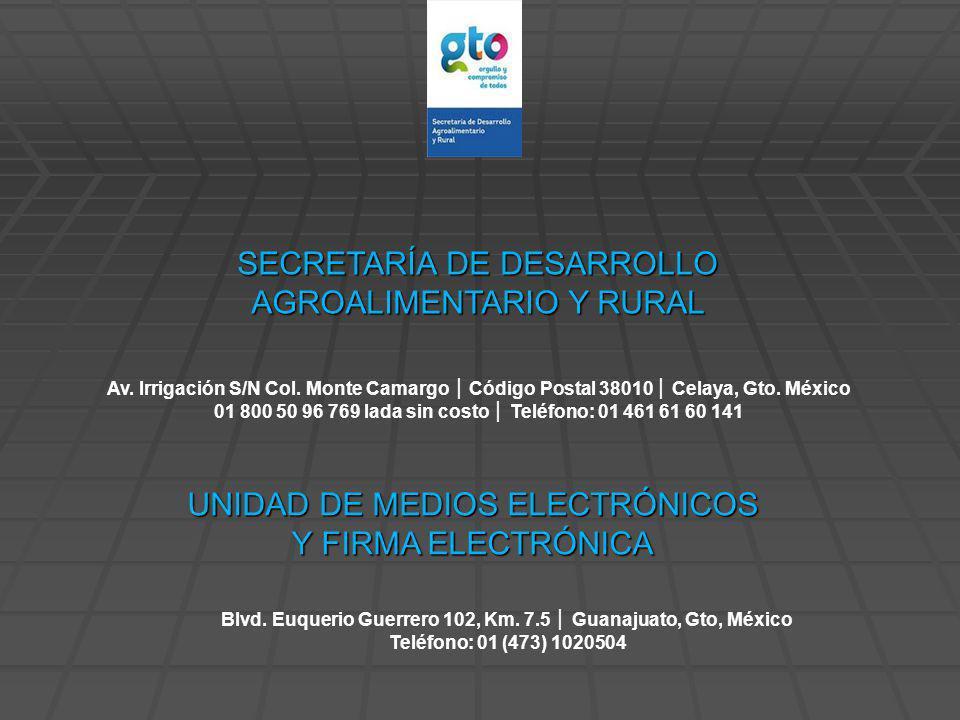UNIDAD DE MEDIOS ELECTRÓNICOS Y FIRMA ELECTRÓNICA Blvd.