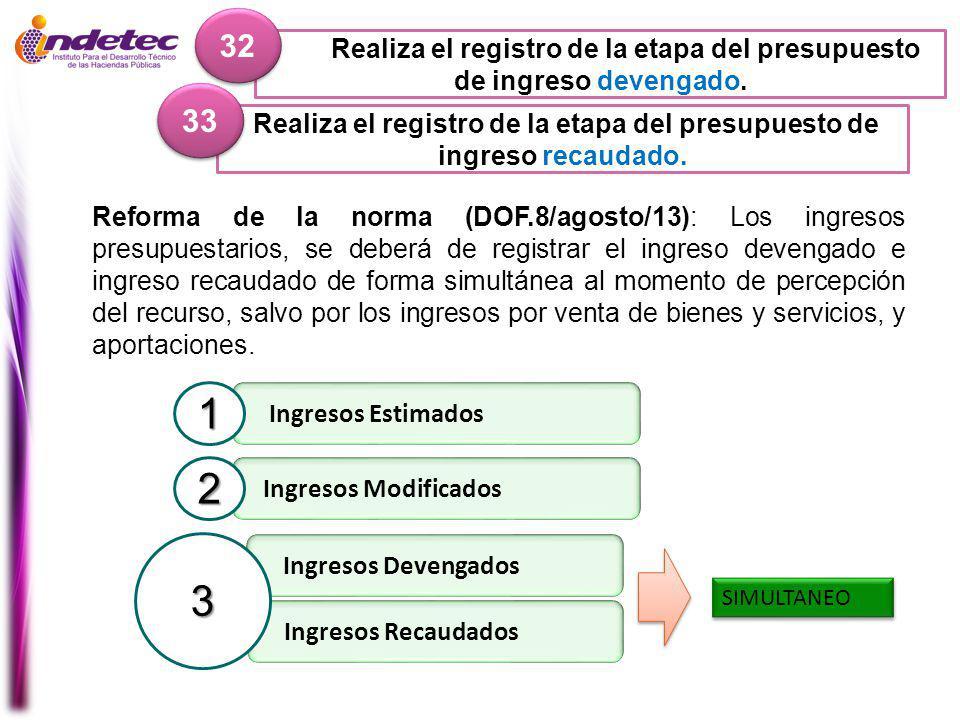Realiza el registro de la etapa del presupuesto de ingreso recaudado.