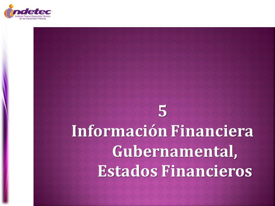 5 Información Financiera Gubernamental, Estados Financieros
