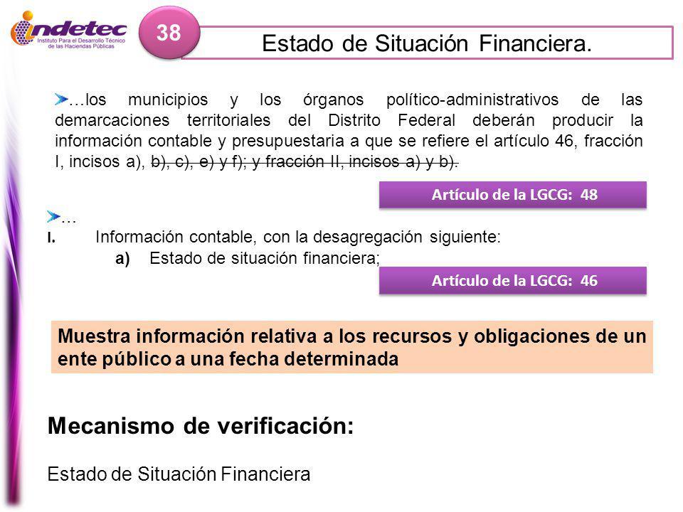 Estado de Situación Financiera.