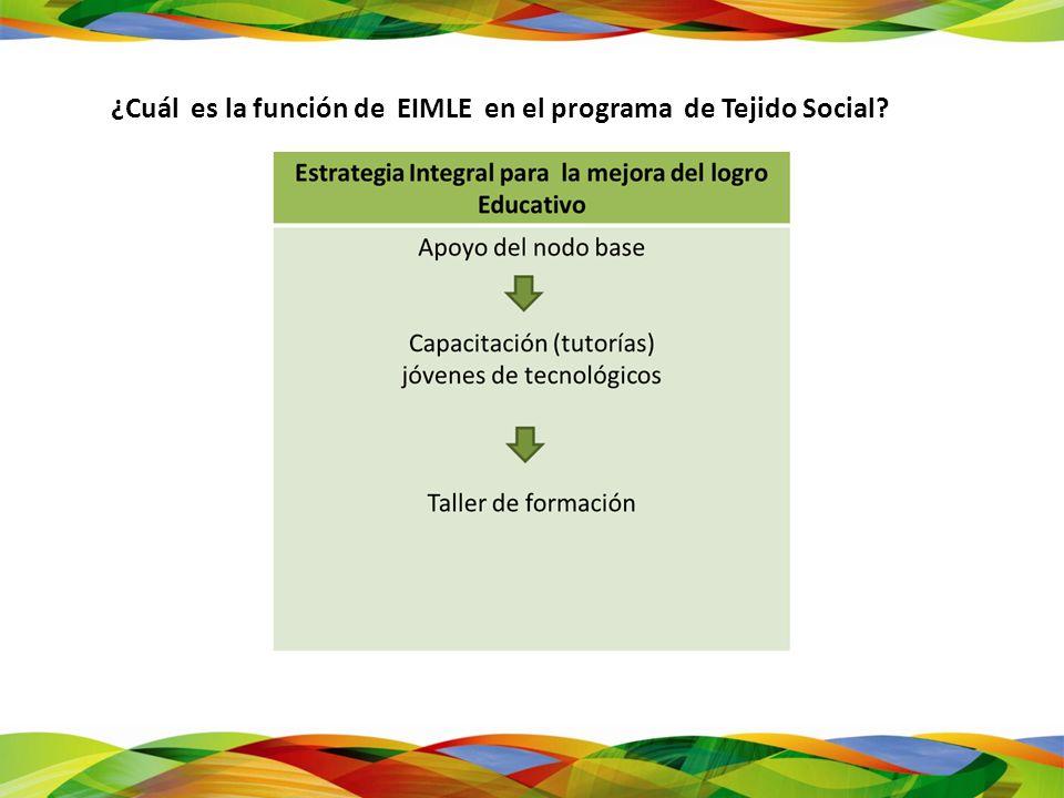 ¿Cuál es la función de EIMLE en el programa de Tejido Social?