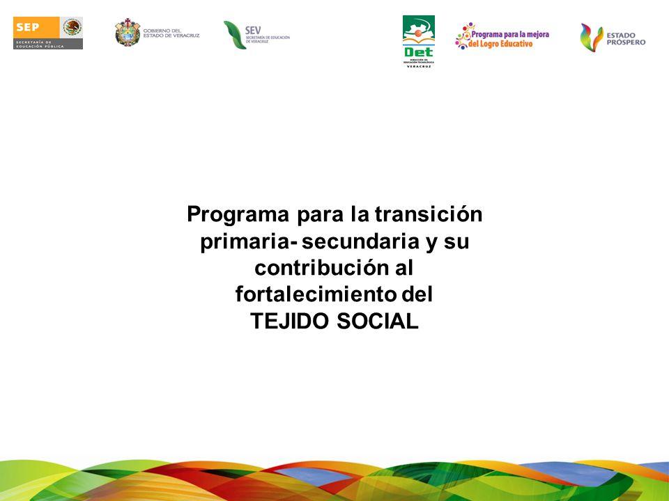 Propósito: Encaminar al fortalecimiento de las competencias para el ingreso a la secundaria, mediante un plan específico de intervención para acompañar a los jóvenes en el tránsito de la primaria a la secundaria.