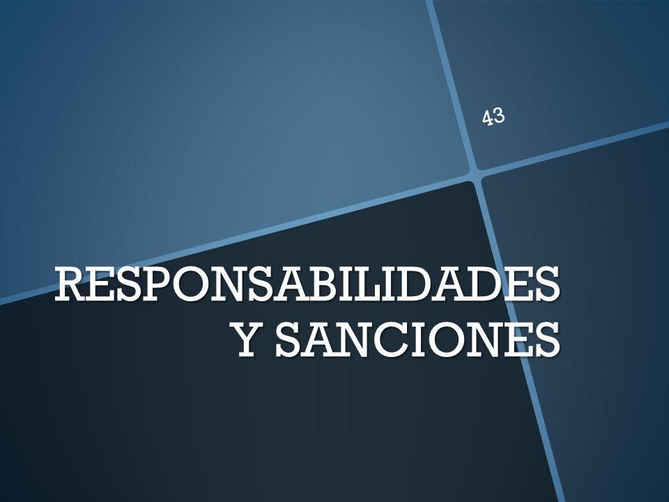 RESPONSABILIDADES Y SANCIONES 43