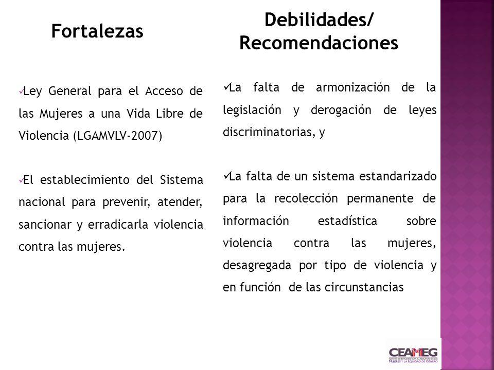 Ley General para el Acceso de las Mujeres a una Vida Libre de Violencia (LGAMVLV-2007) El establecimiento del Sistema nacional para prevenir, atender,