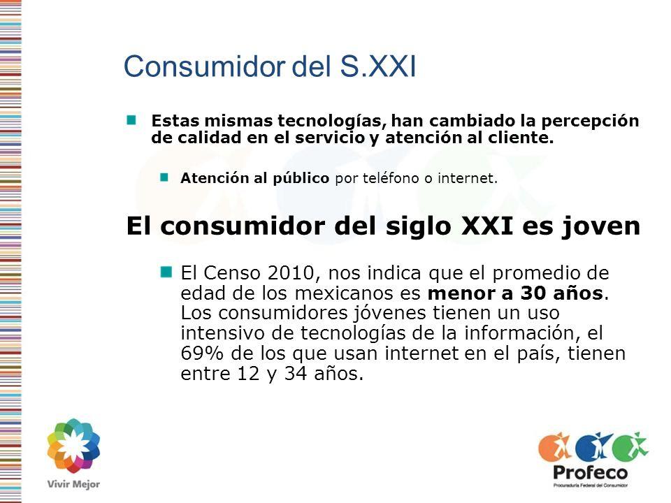 Consumidor del S.XXI Estas mismas tecnologías, han cambiado la percepción de calidad en el servicio y atención al cliente. Atención al público por tel
