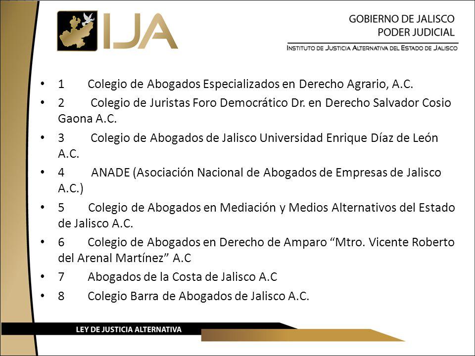 1Colegio de Abogados Especializados en Derecho Agrario, A.C. 2 Colegio de Juristas Foro Democrático Dr. en Derecho Salvador Cosio Gaona A.C. 3 Colegio