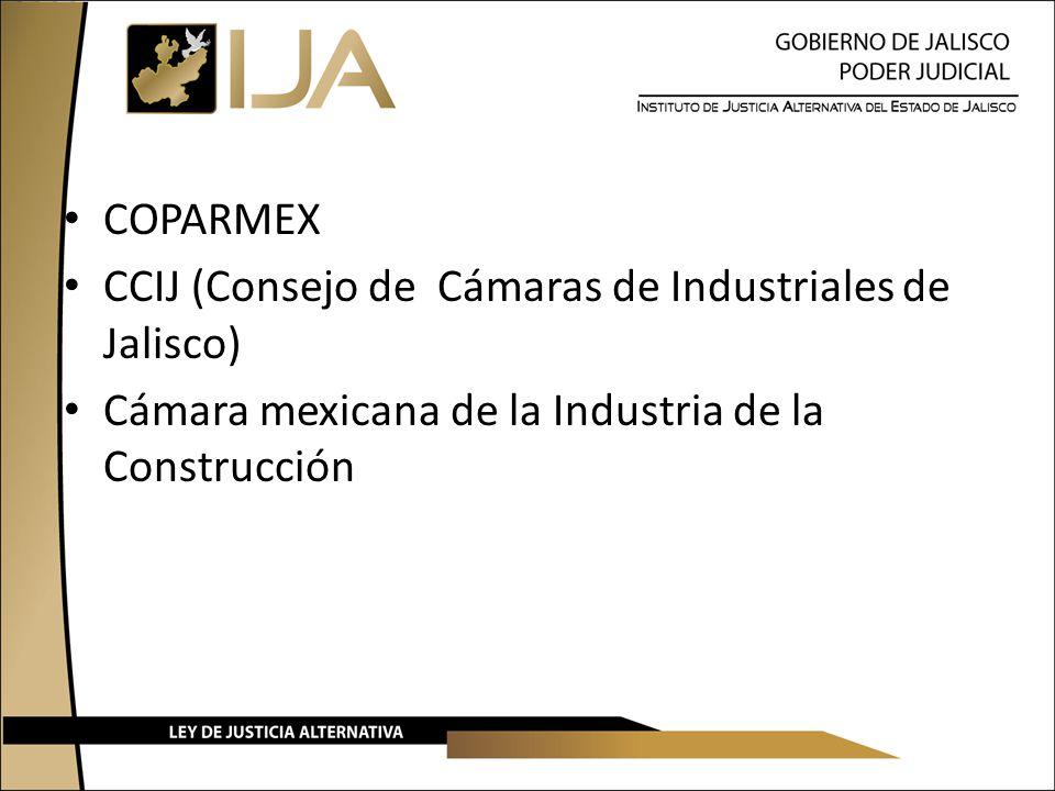 COPARMEX CCIJ (Consejo de Cámaras de Industriales de Jalisco) Cámara mexicana de la Industria de la Construcción