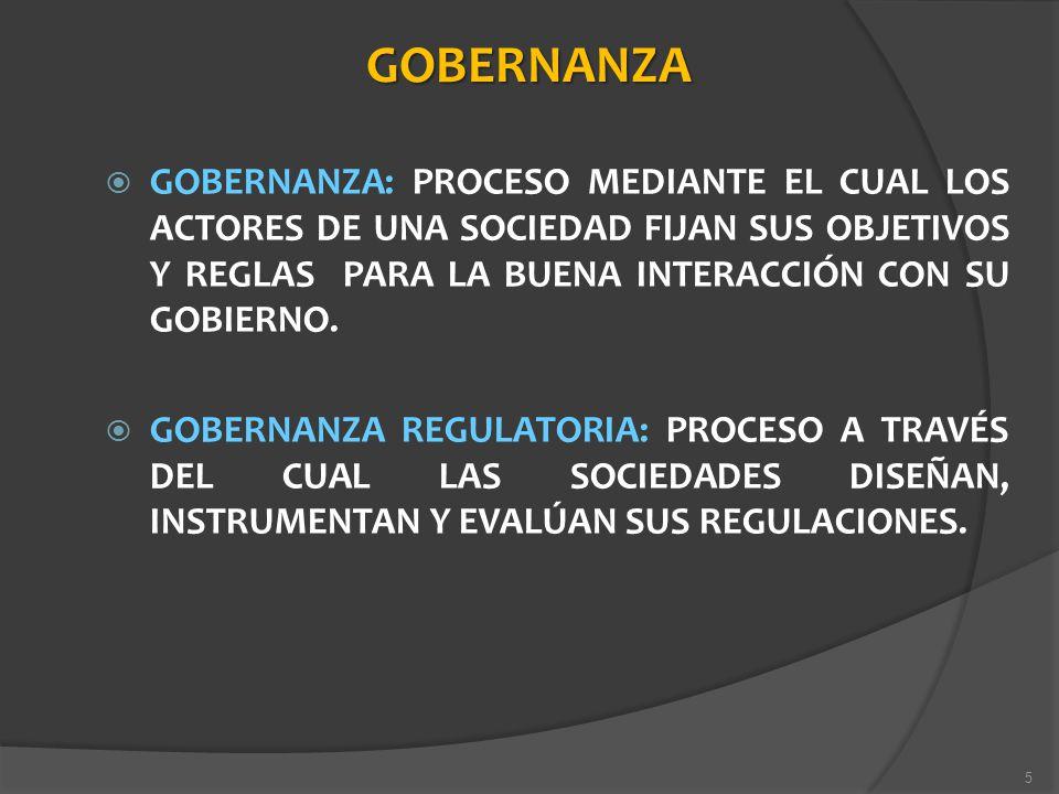 GOBERNANZA GOBERNANZA: PROCESO MEDIANTE EL CUAL LOS ACTORES DE UNA SOCIEDAD FIJAN SUS OBJETIVOS Y REGLAS PARA LA BUENA INTERACCIÓN CON SU GOBIERNO. GO