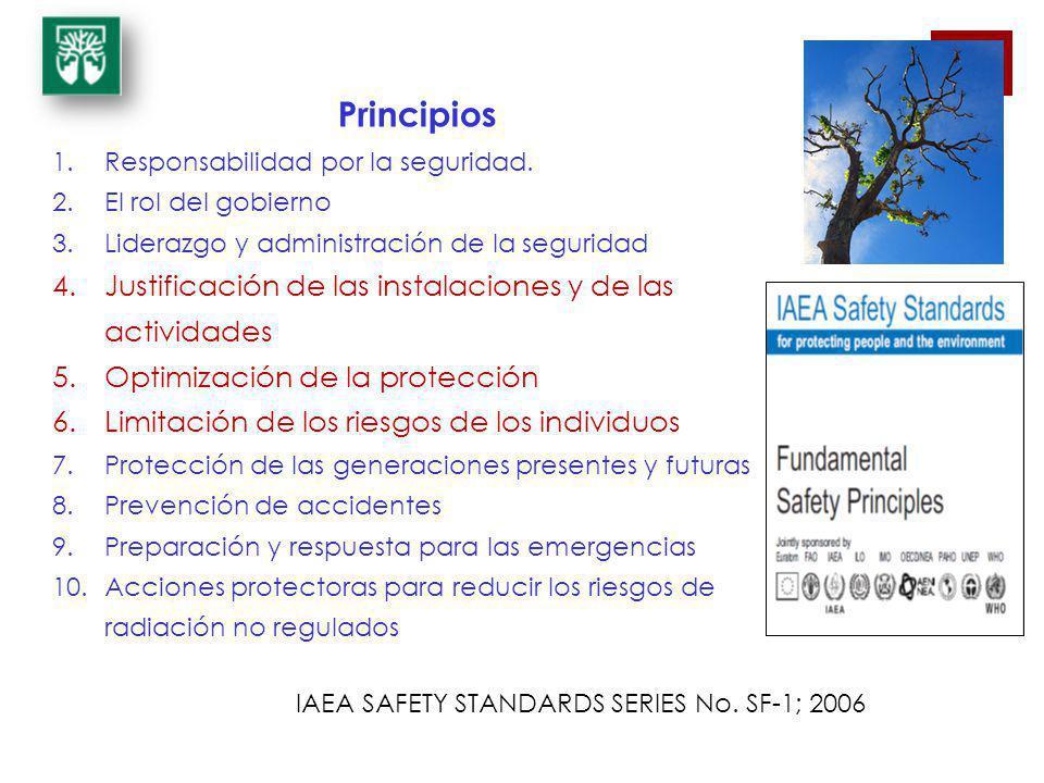 Principios 1.Responsabilidad por la seguridad. 2.El rol del gobierno 3.Liderazgo y administración de la seguridad 4.Justificación de las instalaciones
