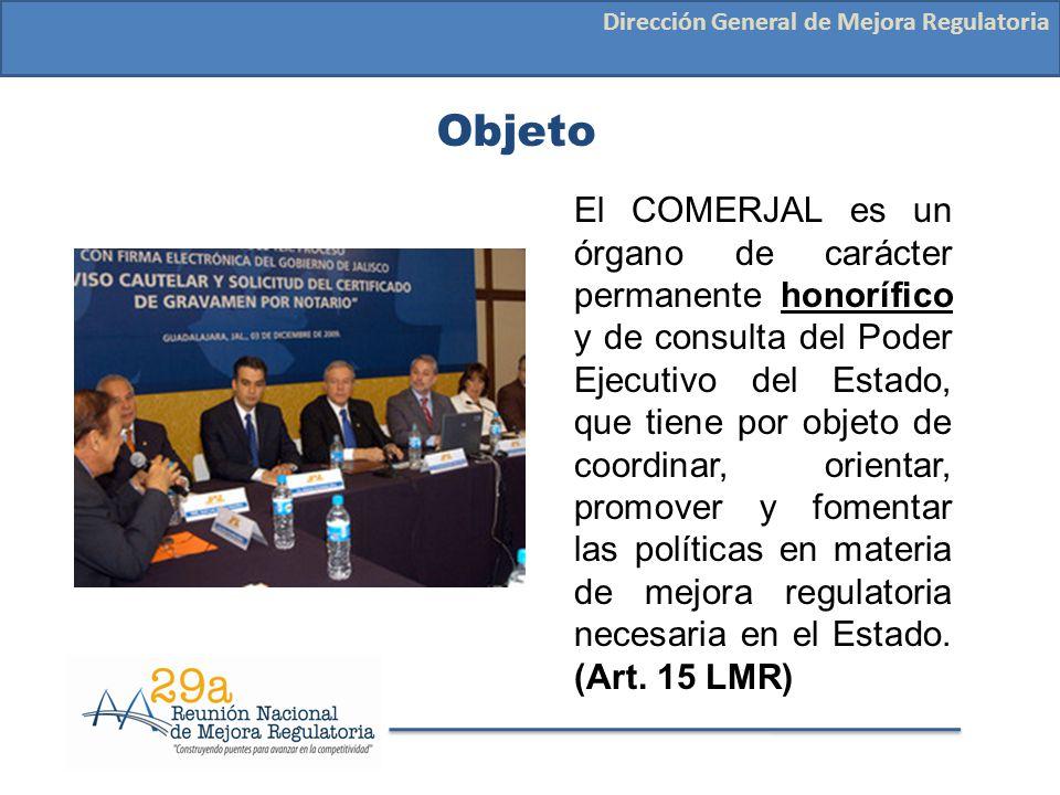 Integración Dirección General de Mejora Regulatoria Un Presidente que estará a cargo del C.