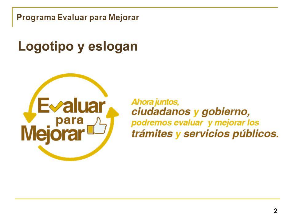 Programa Evaluar para Mejorar Logotipo y eslogan 2
