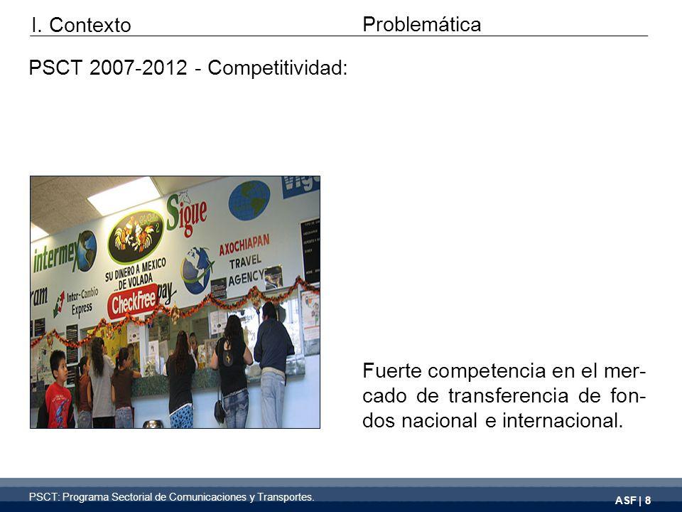 ASF | 8 Fuerte competencia en el mer- cado de transferencia de fon- dos nacional e internacional.