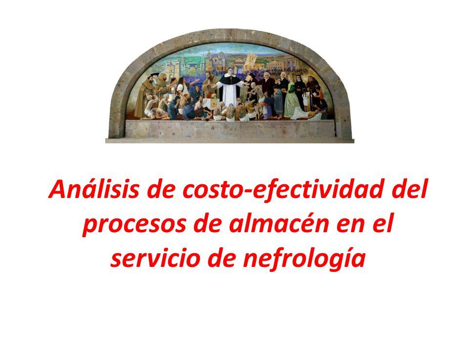 Análisis de costo-efectividad del procesos de almacén en el servicio de nefrología