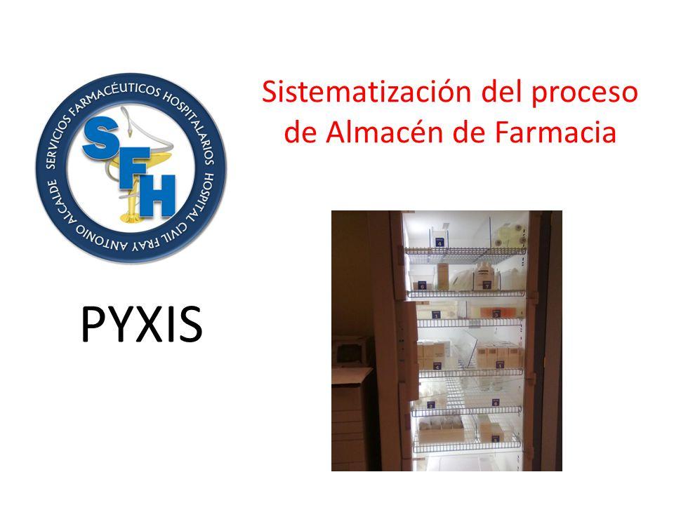 Sistematización del proceso de Almacén de Farmacia PYXIS