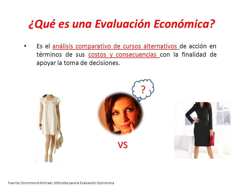 Componentes básicos de una evaluación: Identificar Cuantificar Valorar Comparar Fuente: Drummond Michael, Métodos para la Evaluación Económica