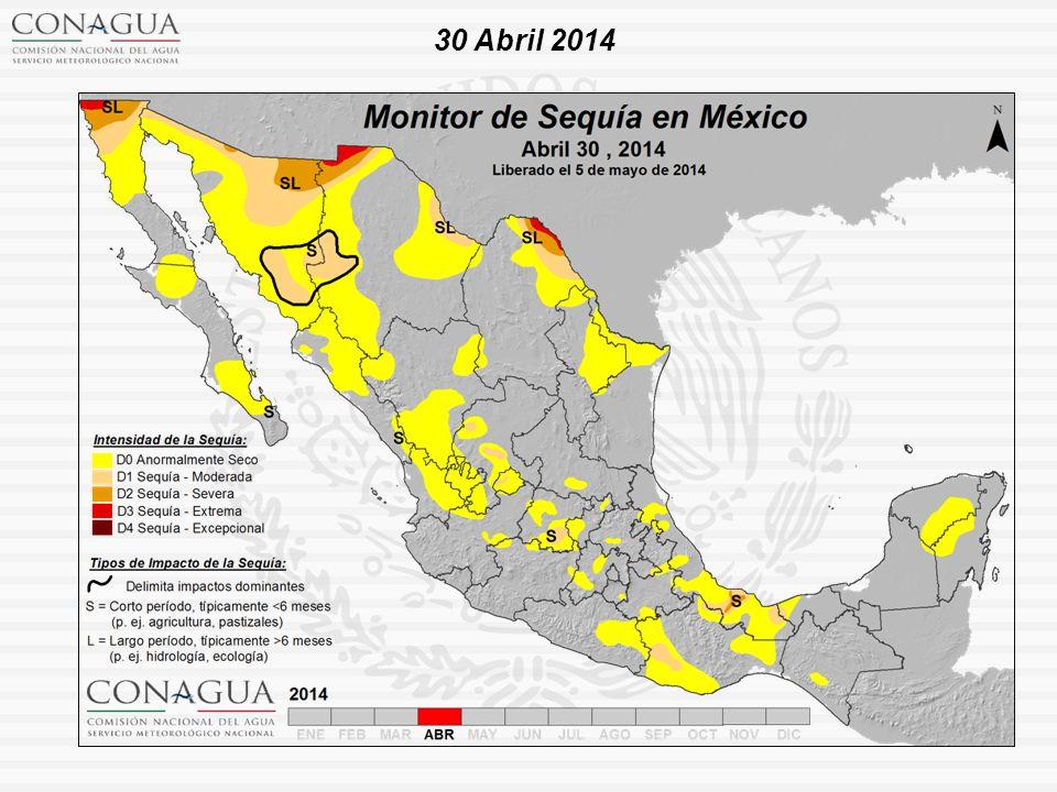 Estadísticas a nivel nacional a finales de Abril de 2014 Sin afectación: 62.03 % D0 : 29.24 % D1 : 6.38 % D2 : 1.93 % D3 : 0.42 % D4: 0.0 %