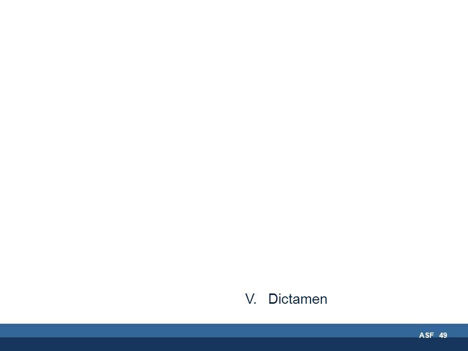 ASF 49 V. Dictamen