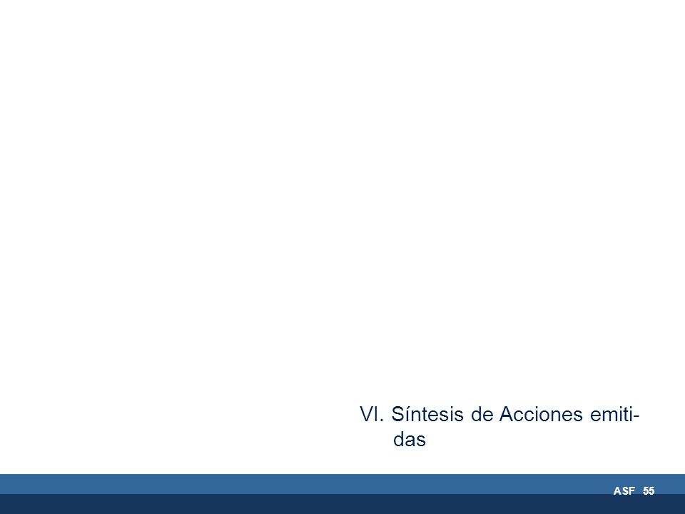 ASF 55 VI. Síntesis de Acciones emiti- das