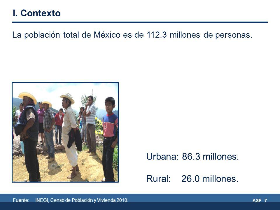 La población total de México es de 112.3 millones de personas.