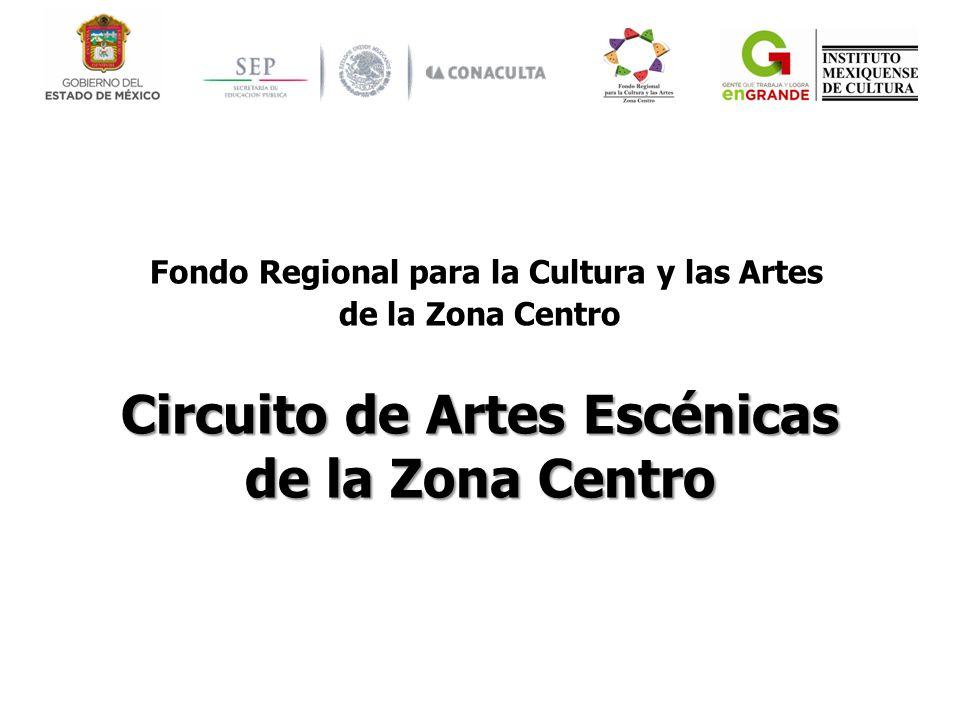 Fondo Regional para la Cultura y las Artes de la Zona Centro Circuito de Artes Escénicas de la Zona Centro