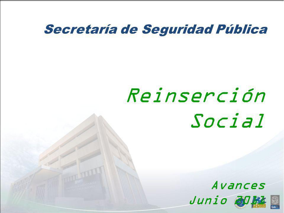 Ene - Jun 2011 Plan Integral Penitenciario Infraestructura SeguridadReinserción Deshabituamiento 19 Estrategias83 Líneas de Acción Plan Integral Penitenciario: Reinserción Social