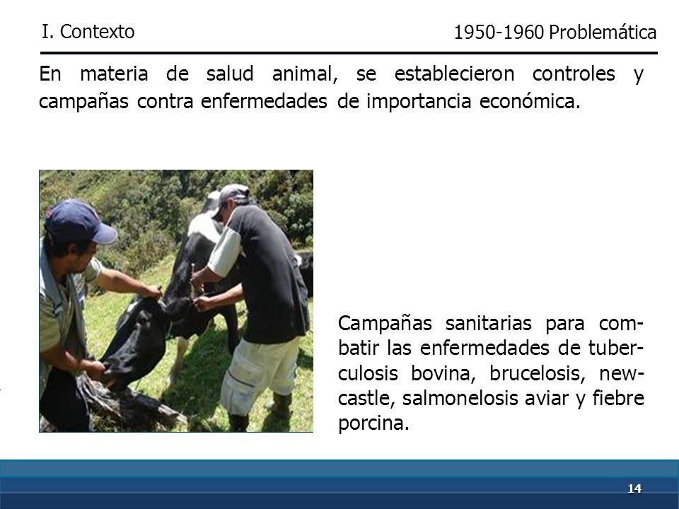 1313 En materia de sanidad vegetal, se elaboró la Lista de las principales plagas y enfermedades de las plantas cultivadas en México. 1950-1960 Se des