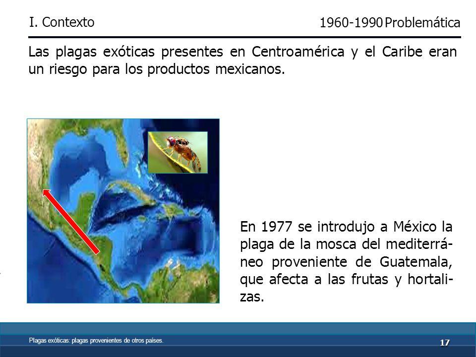 1616 Por la propagación de plagas y enfermedades, en la década de los 60´s se modificó el esquema de operación de las actividades sanitarias en vegetales.