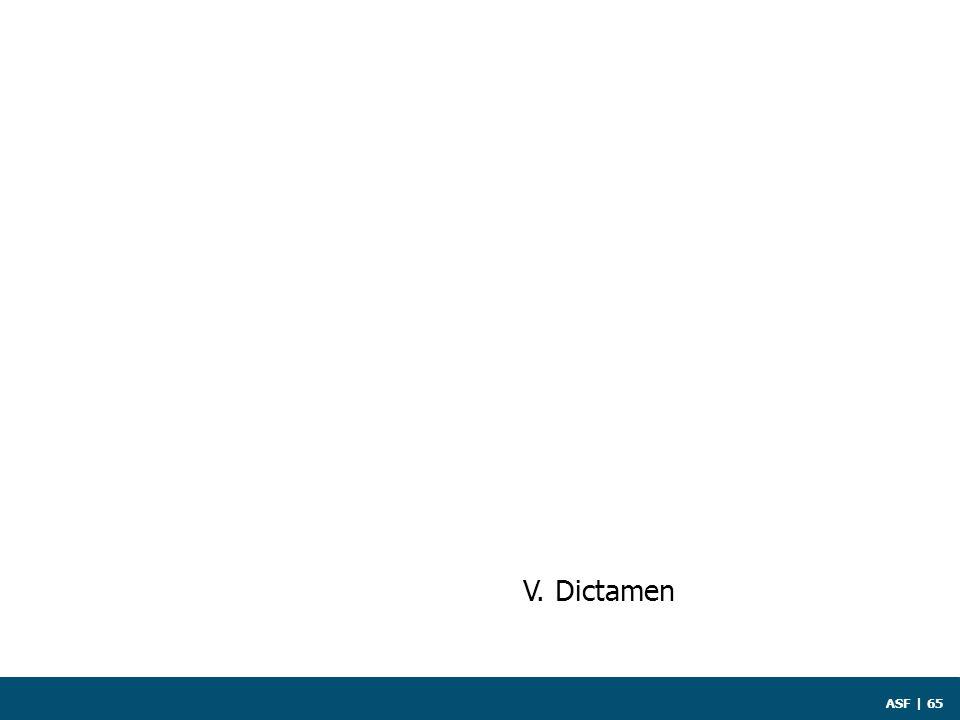 ASF | 65 V. Dictamen