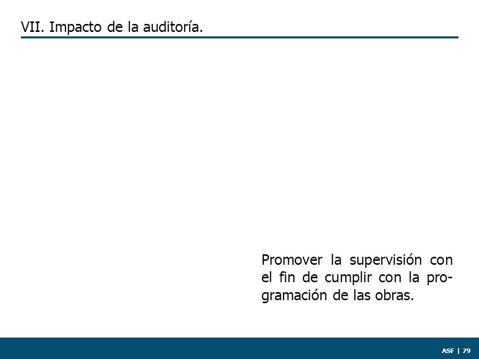 ASF | 79 Promover la supervisión con el fin de cumplir con la pro- gramación de las obras.