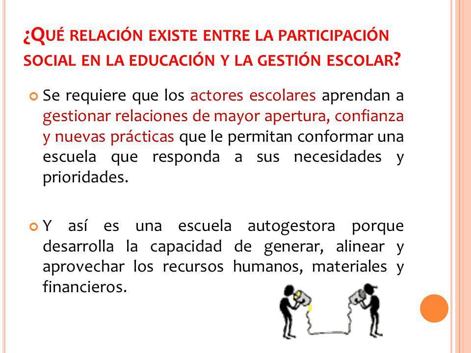 ¿C ÓMO LOGRAR UNA PARTICIPACIÓN SOCIAL EDUCATIVA EFICAZ .