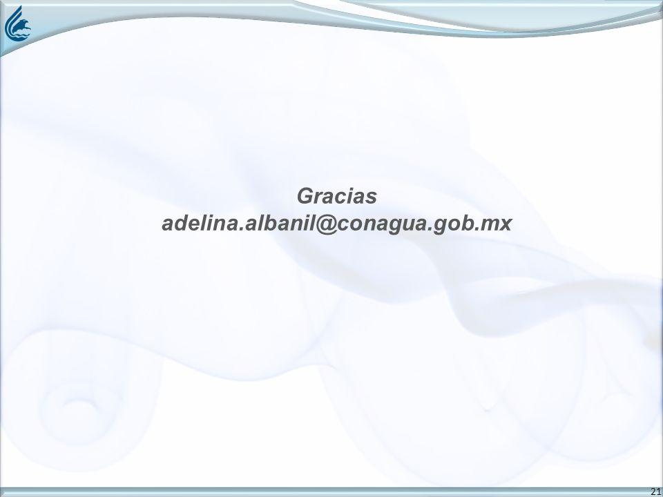 21 Gracias adelina.albanil@conagua.gob.mx