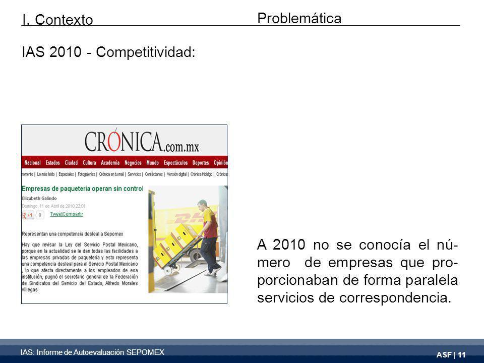 ASF | 11 A 2010 no se conocía el nú- mero de empresas que pro- porcionaban de forma paralela servicios de correspondencia.