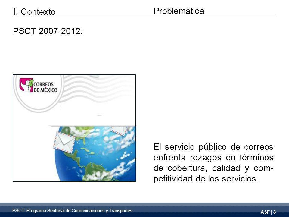 ASF | 3 El servicio público de correos enfrenta rezagos en términos de cobertura, calidad y com- petitividad de los servicios.