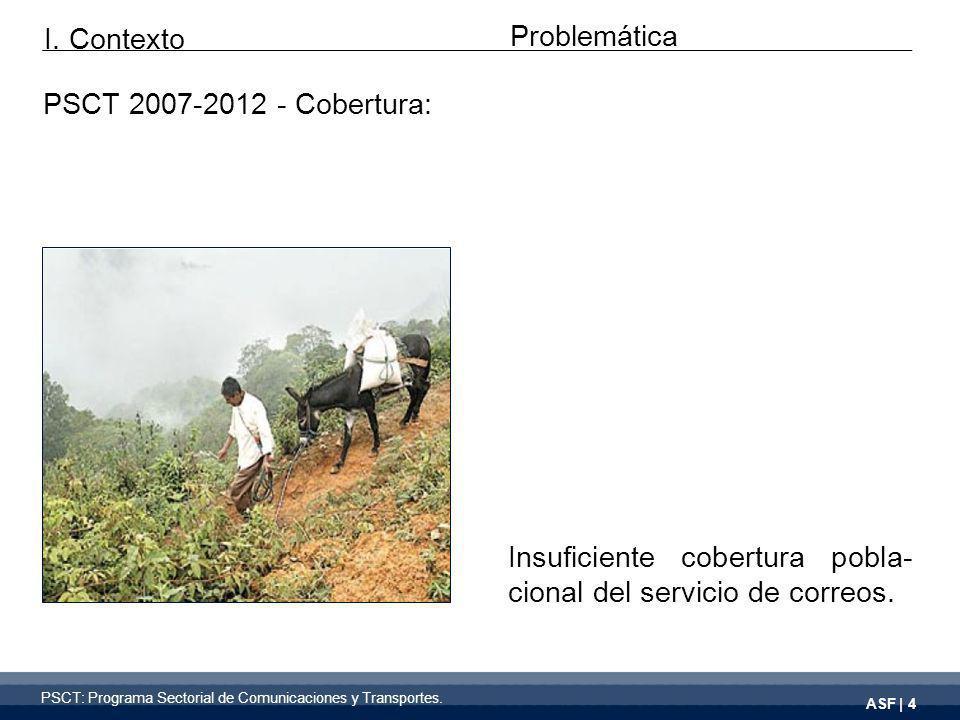 PSCT 2007-2012 - Cobertura: Insuficiente cobertura pobla- cional del servicio de correos.