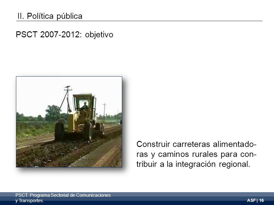 ASF | 16 PSCT: Programa Sectorial de Comunicaciones y Transportes.