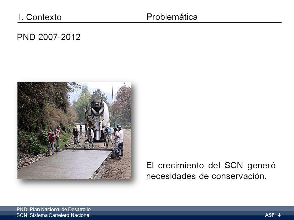 ASF | 4 El crecimiento del SCN generó necesidades de conservación.