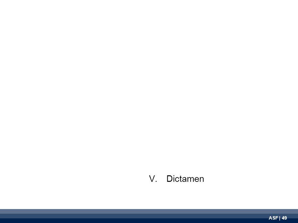 ASF | 49 V.Dictamen