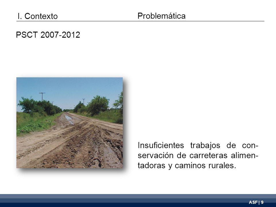 ASF | 9 Insuficientes trabajos de con- servación de carreteras alimen- tadoras y caminos rurales.