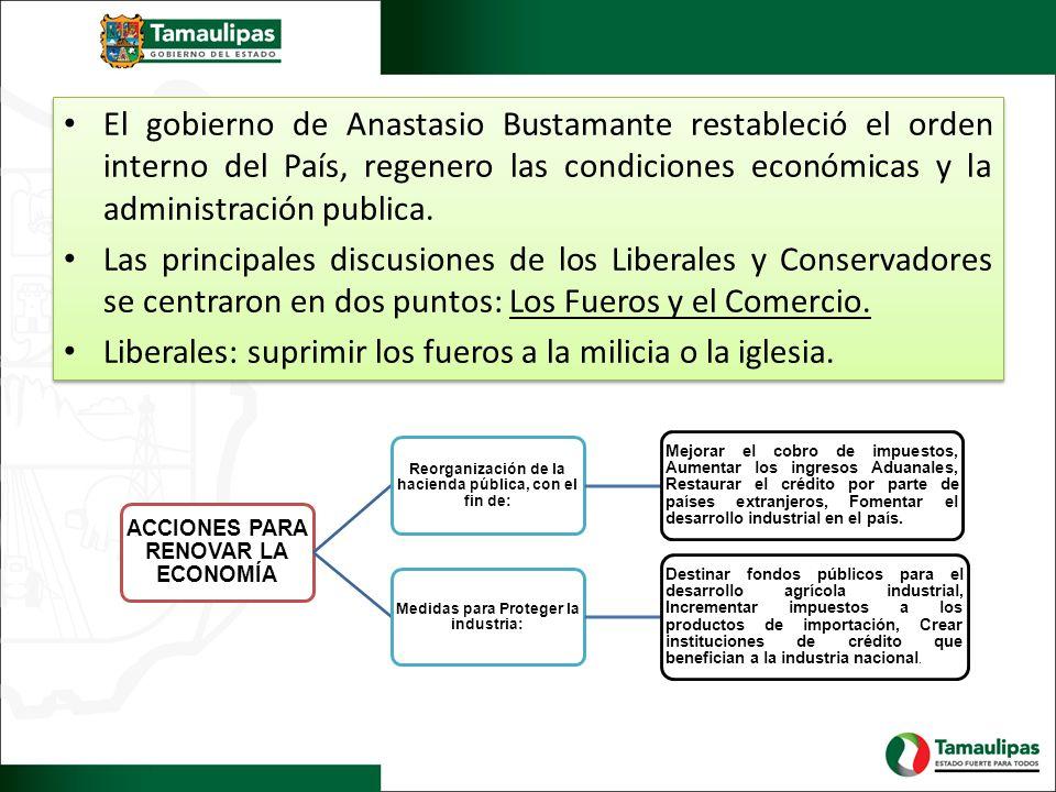 La Política en México se distinguió por sus numerables disputas ideológicas, además se tenia como disputa un solo propósito: construir una nación y otorgarle bases constitucionales.